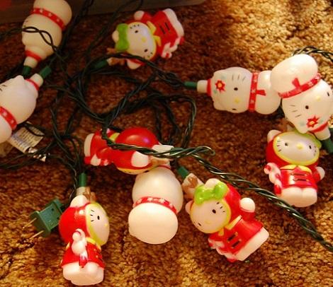 luces de navidad de Hello Kitty  - Decoración de Navidad de Hello Kitty