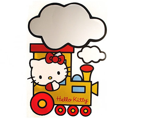vinilos de hello kitty en tren de leroy merlin  - Vinilos decorativos de Hello Kitty de Leroy Merlín