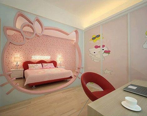 5 habitaciones de hello kitty