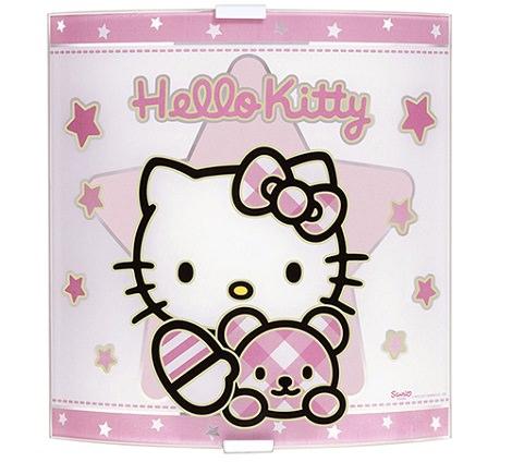 L mparas infantiles de hello kitty en leroy merl n - Apliques pared leroy merlin ...