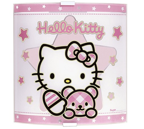 lámpara infantil de hello kitty aplique