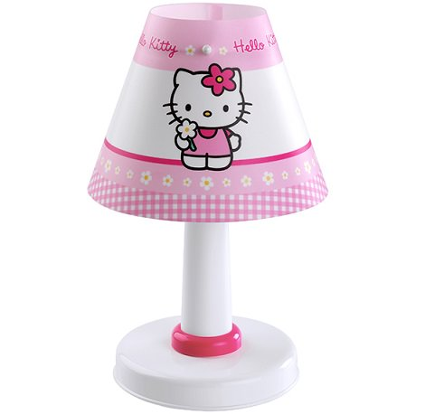 lámpara infantil de hello kitty de mesa