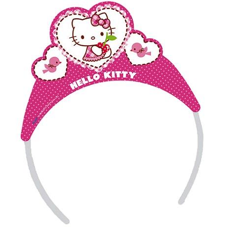 corona de cumpleaños de hello kitty