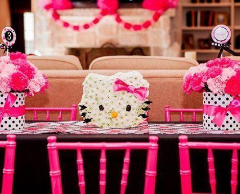 cumpleaños de niña de Hello Kitty