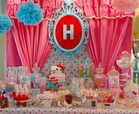 espectacular cumpleanos de hello kitty