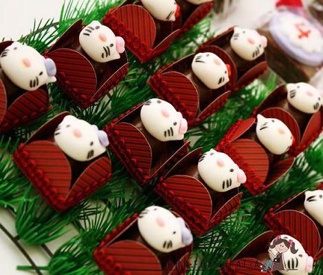 bombones de hello kitty  - Cómo decorar un cumpleaños de Hello Kitty en casa