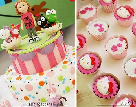 tarta de hello kitty  - Cómo decorar un cumpleaños de Hello Kitty en casa