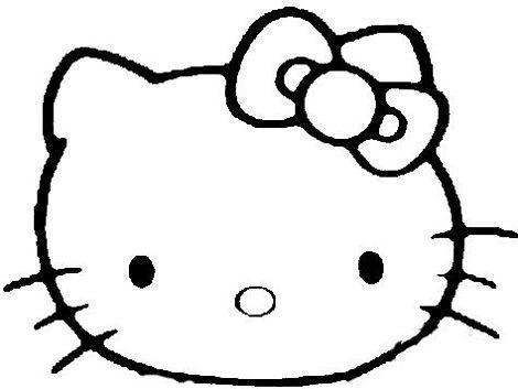 Cara de Kitty en goma eva - Imagui