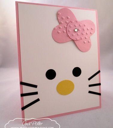 tarjetas de cumplea os de hello kitty caseras