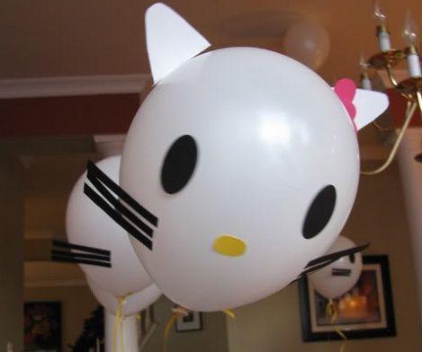 manualidades caseras fiesta hello kitty