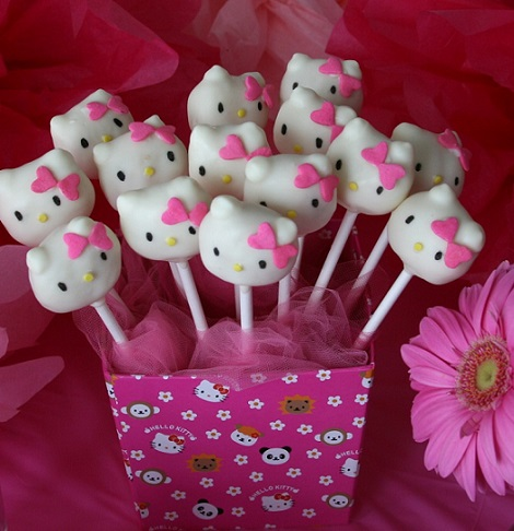 receta de los cake pops de hello kitty