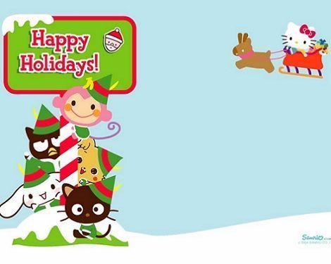 fondos de pantalla hello kitty navidad