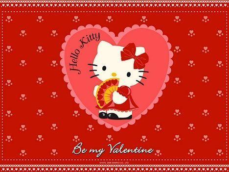 fondos de escritorio hello kitty san valentin