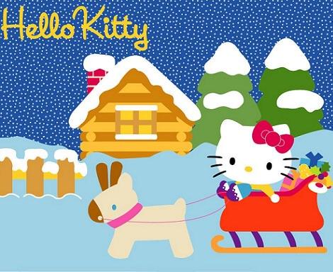 fotos de navidad de Hello Kitty