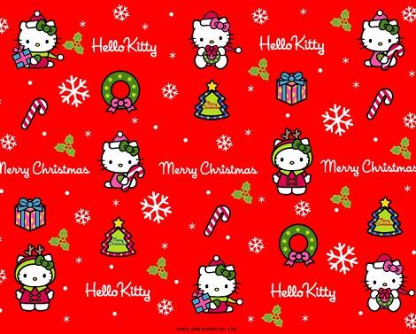 imágenes de navidad de Hello Kitty