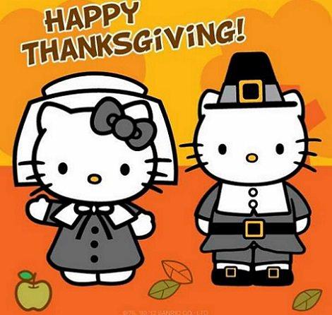 acción de gracias y hello kitty 2014