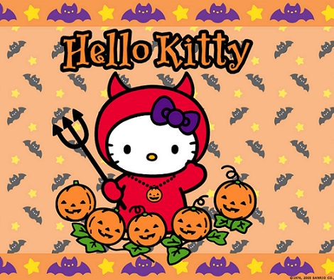 fotos de hello kitty de halloween diablo  - Fotos de Halloween de Hello Kitty