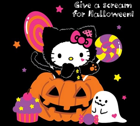 fotos de hello kitty de halloween negro