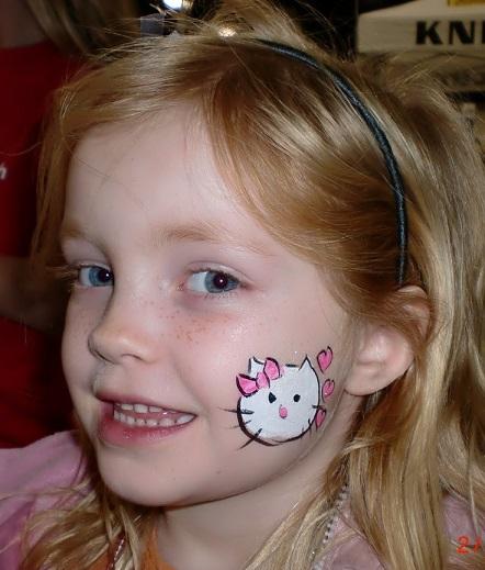 pintacaras de hello kitty para fiestas infantiles