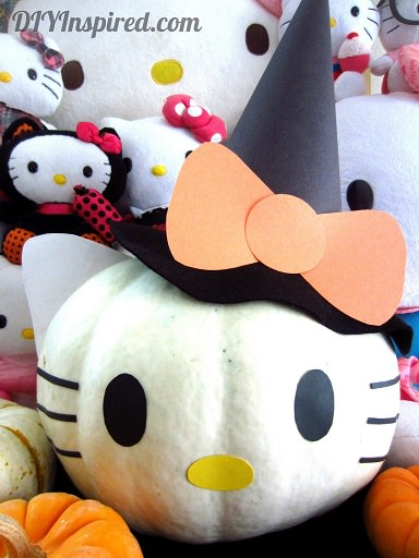C mo decorar una calabaza con hello kitty for Como decorar una calabaza original