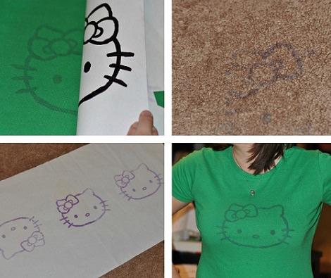 Cómo decorar una camiseta de Hello Kitty en casa