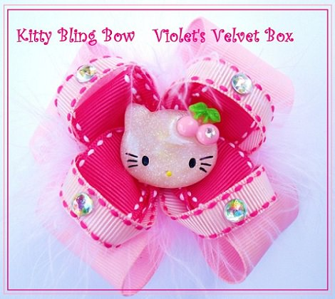 Cómo hacer lazos para el pelo de Hello Kitty paso a paso