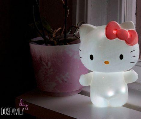 lampara de hello kitty casera