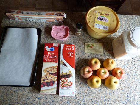 ingredientes tarta de manzana de Hello Kitty