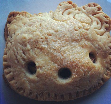 receta fácil de tarta de manzana de Hello Kitty