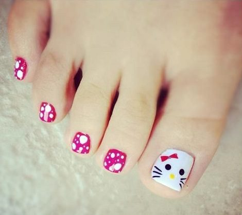 pintar-unas-pies-hello-kitty- ...