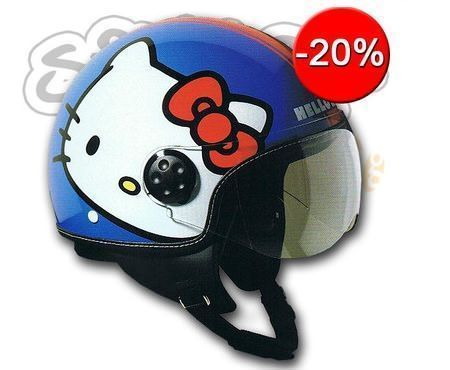 casco hello kitty azul