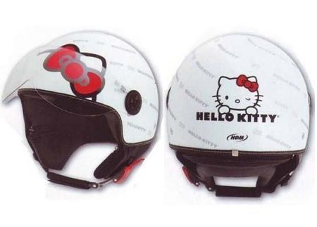 casco hello kitty lazo