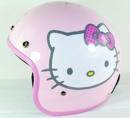 casco hello kitty motocicleta