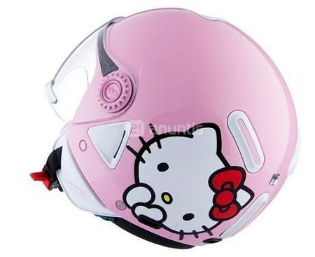 casco hello kitty rosa cara