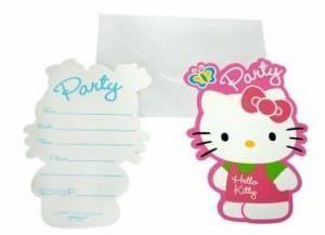 cumpleaños hello kitty invitaciones