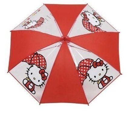 paraguas kitty transparente