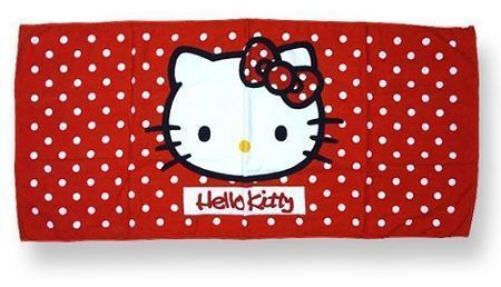 toalla hello kitty playa lunares