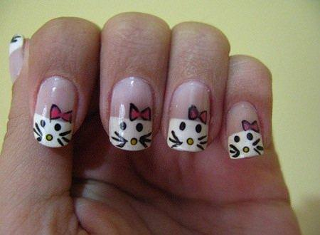 Uñas Hello Kitty