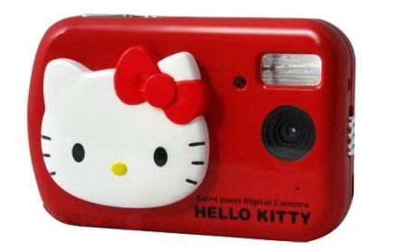 camara hello kitty digital roja