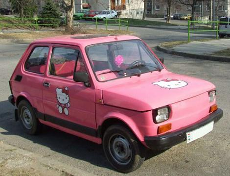 coches hello kitty