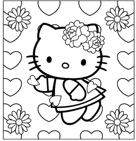 Dibujo Hello Kitty para imprimir