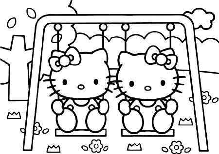 Dibujo para imprimir Hello Kitty