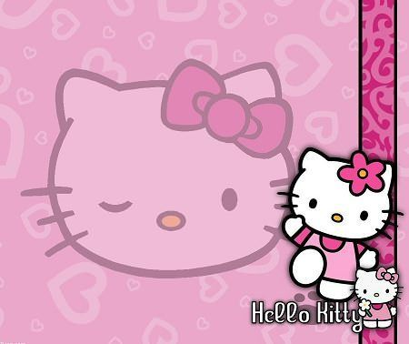fondos pantalla kitty rosa