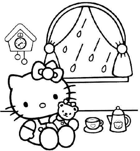 Hello Kitty para imprimir