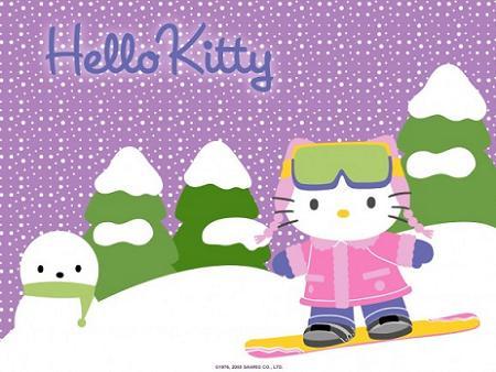 Hello Kitty Ski