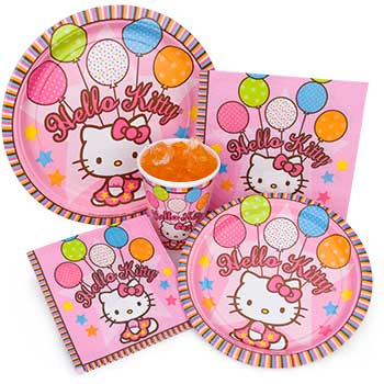 ideas fiesta hello kitty platos