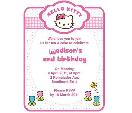 invitacion hello kitty blanca