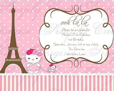 invitacion hello kitty paris