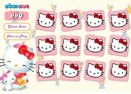 juegos hello kitty memoria