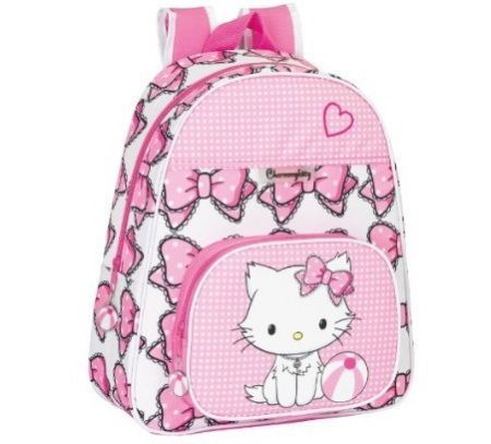 mochila escolar hello kitty lazos